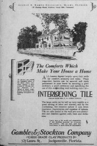 Ad for Interlocking Tile in Tampa Times