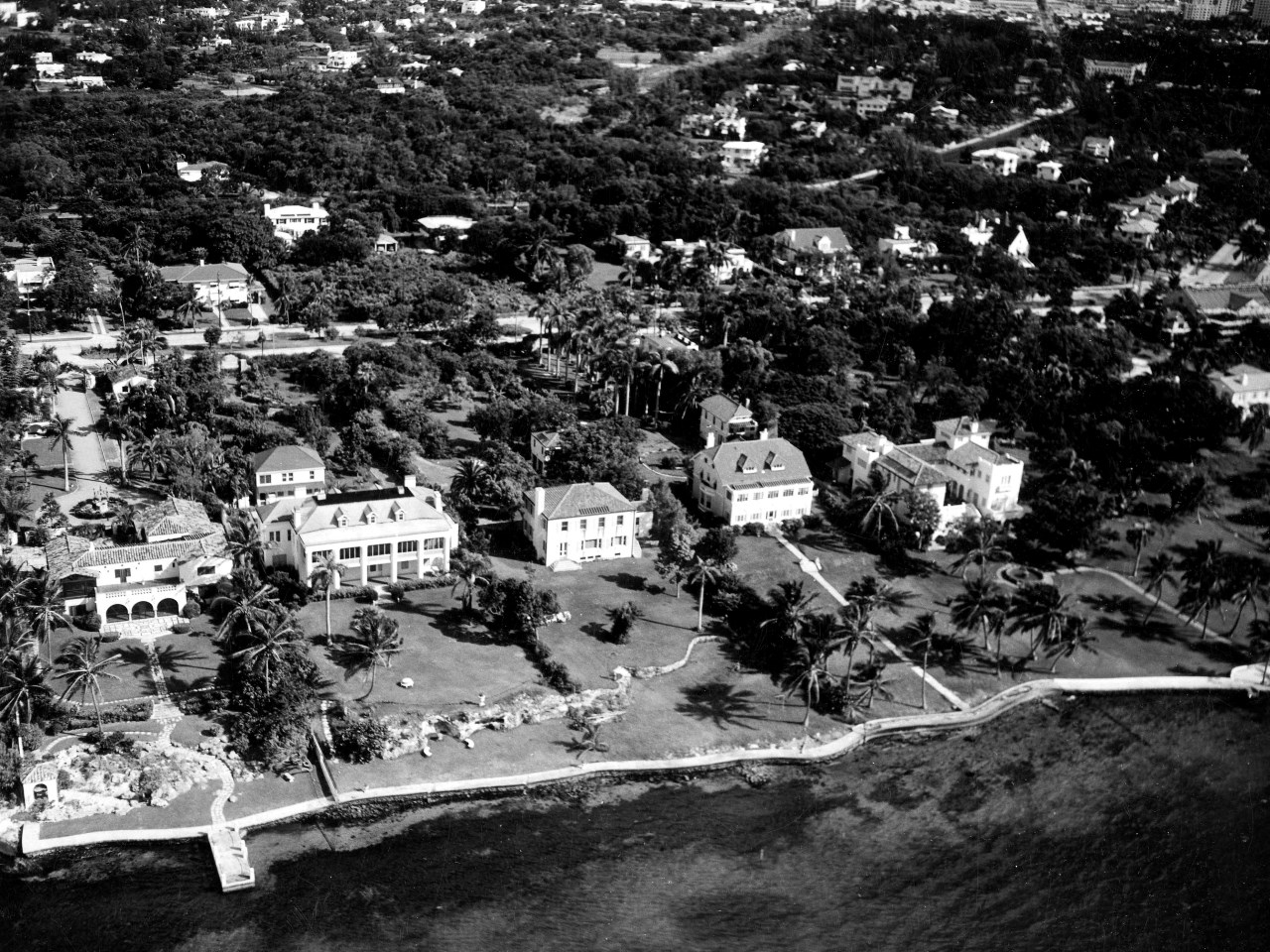 Aerial of Millionaire Row in the 1940s