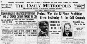 Headline of Flight Exhibition on July 21, 1911