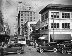 Converse Building (right) in 1930s