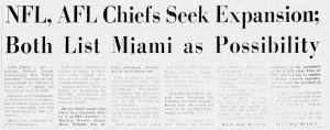 Headline in Miami Herald on June 4, 1965