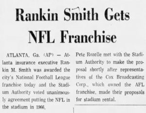 Rankin Smith Gets NFL Franchise