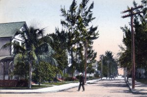 Postcard of Fourteenth Street in Downtown Miami