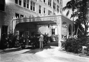 Robert Clay Hotel Entrance in 1937