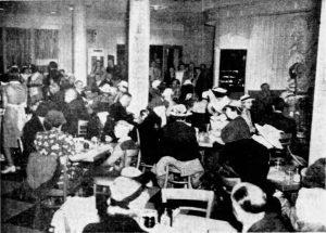 Dining in Mayflower Restaurant on February 2, 1941
