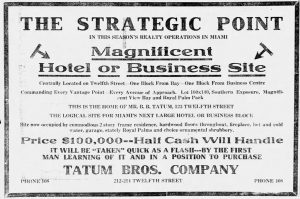 Ad for Tatum Property on February 2, 1917