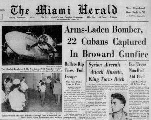 Headline in Miami Herald on November 11, 1958