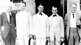 Miami City Commission in 1921. Ed Romfh in the middle.