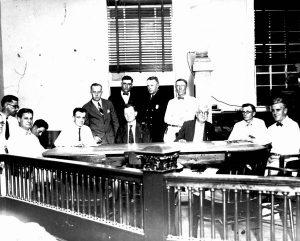 Miami City Commission & Mayor Romfh in 1924