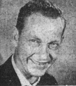 Architect Rufus Nims in 1956