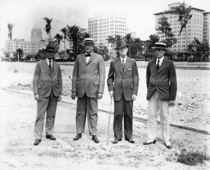 James Lummus, John Sewell, Thomas Townley & Everest Sewell in March of 1921