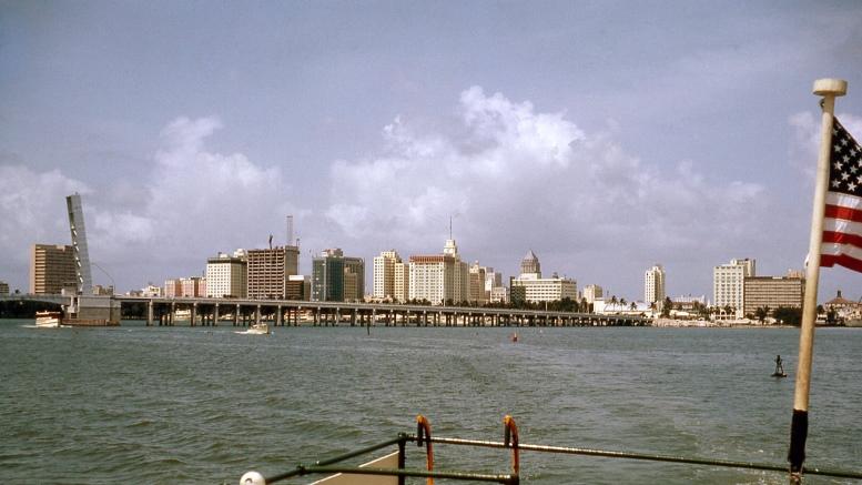Downtown Miami Skyline in 1964