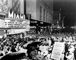 World Premiere of Glenn Miller Story in 1954