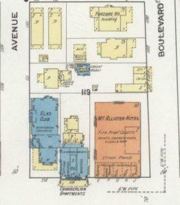 Sanborn Map of Flagler Street in 1918