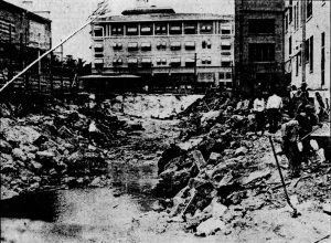 Demolition of Chamberlain Apartments on May 22, 1925