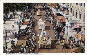 Chamberlain Postcard of Flagler Street in 1925