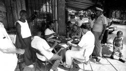 Puerto Rican Men Playing Dominoes in Wynwood in 1992