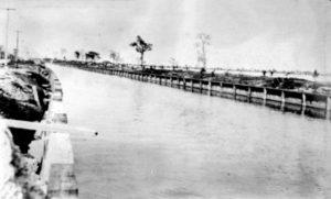 Collins Bridge Looking West in 1912