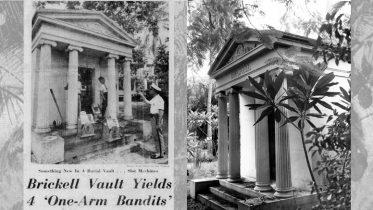Slot Machines in Brickell Mausoleum on July 18, 1961