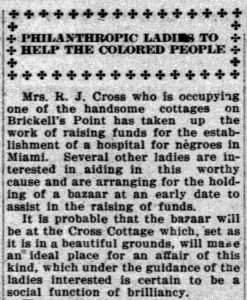Article in Miami News on January 23, 1912