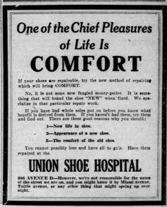 Ad of Business on Tuttle Avenue (8/25/1921)