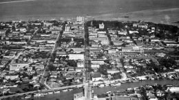 Aerial of Downtown Miami in 1921