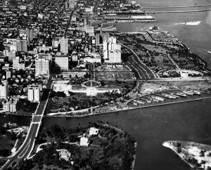 Aerial of Brickell Point in the 1930s