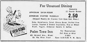 Ad for Palm Tree Inn on January 1, 1949