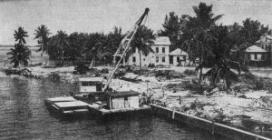 Clearing Grounds of Brickell Point on May 7, 1950