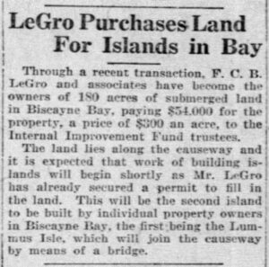 Article in the Miami Metropolis on January 7, 1918