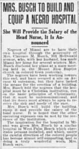 Article in the Miami Metropolis on April 19, 1920