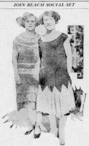 Delphine and Dorothy Popham on January 13, 1925