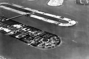 Aerial of Palm and Hibiscus Islands in 1925