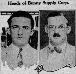 Leslie Winik (right) & Louis Staff on July 17, 1926