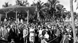 William J Bryan Sunday Service in Royal Palm Park in 1921